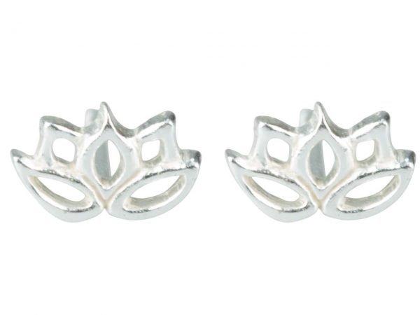 Lotus stud earring