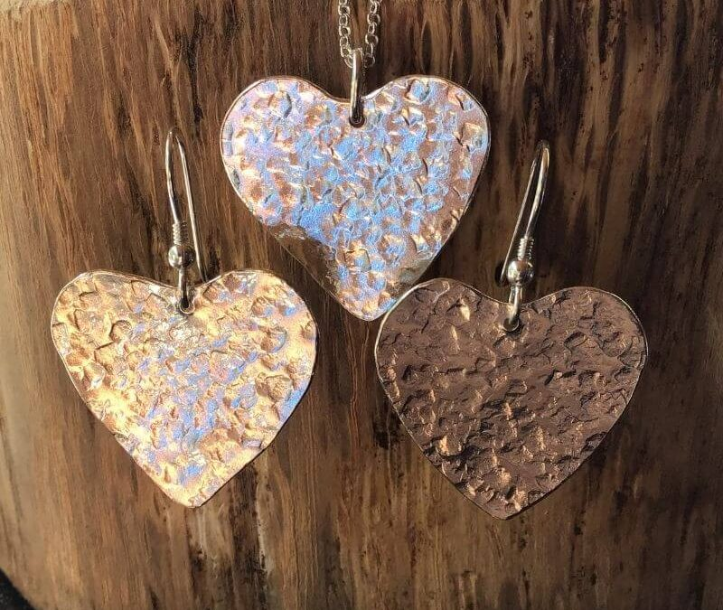 Textured Hearts