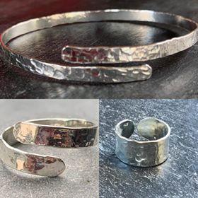 adjustable toe ring, hand ring, bangle by joon silver