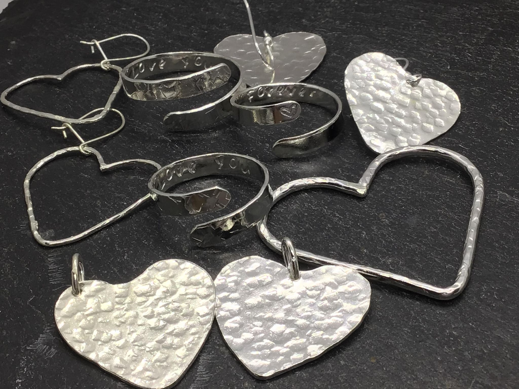 Beautiful handmade silver hearts make great Valentines gifts from Joon Silver