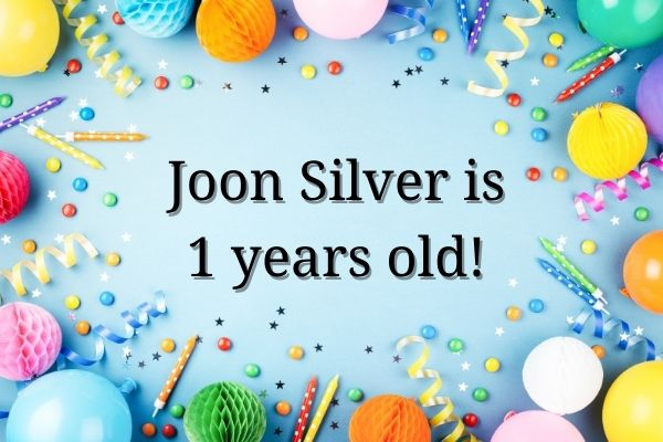 Joon Silver is celebrating its first anniversary and is 1 yrs old in March 2021