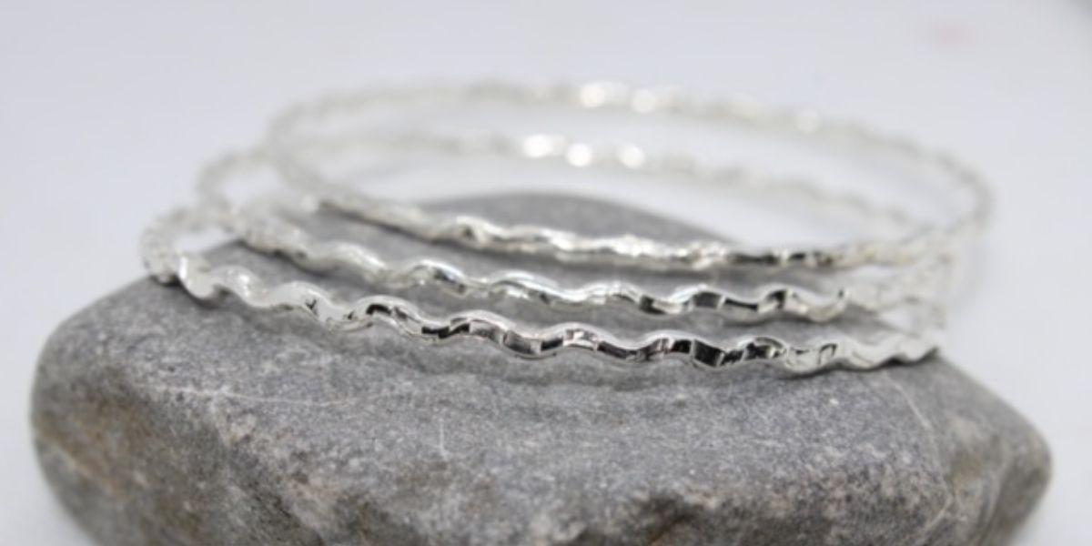 Wave bangle by Jo of Joon Silver