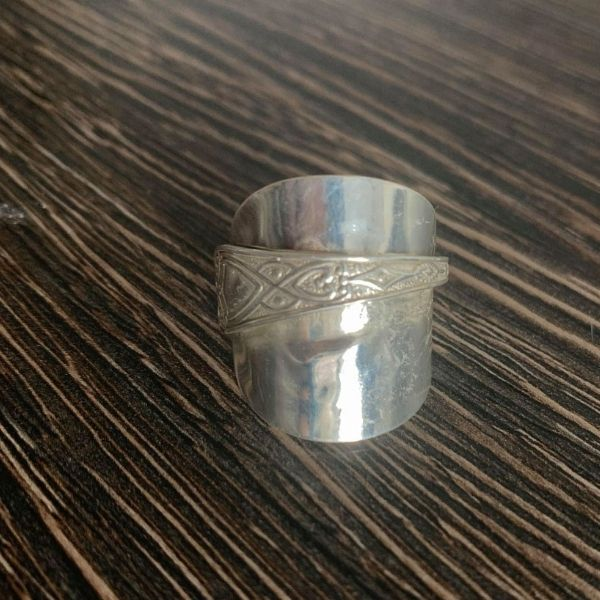 Silver Spoon Ring after cleaning