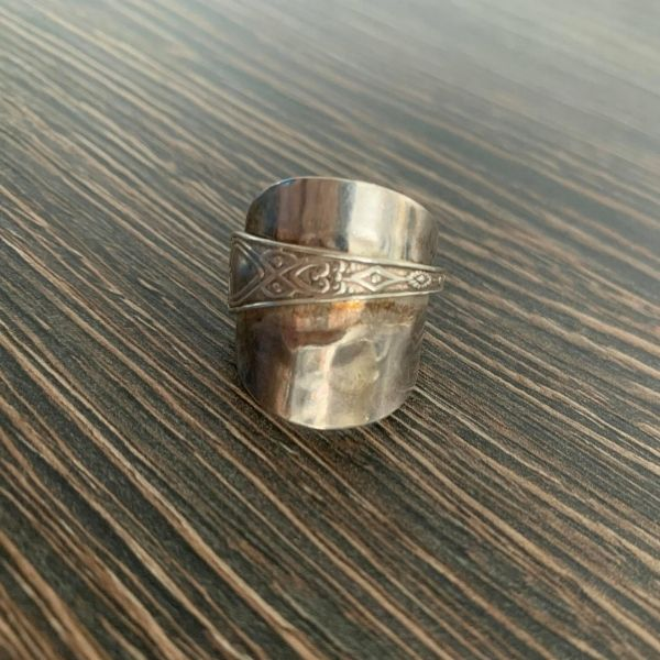Silver Spoon Ring before cleaning