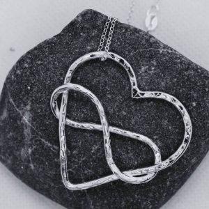 infinity symbol inside heart